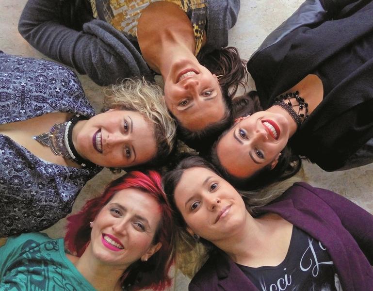 Ana Paula Beling, Bárbara Damásio, Bruna Nogueira, Carol e Gika Voigt cantarão juntas no show