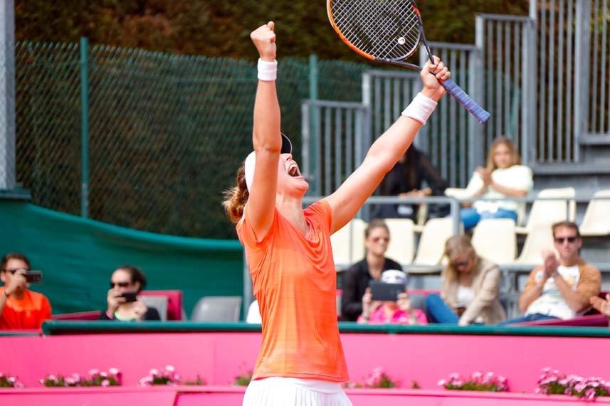 Bia Maia foi campeã do ITF francês, entrou no top 100 e tem colhido frutos de investimentos na base - Divulgação