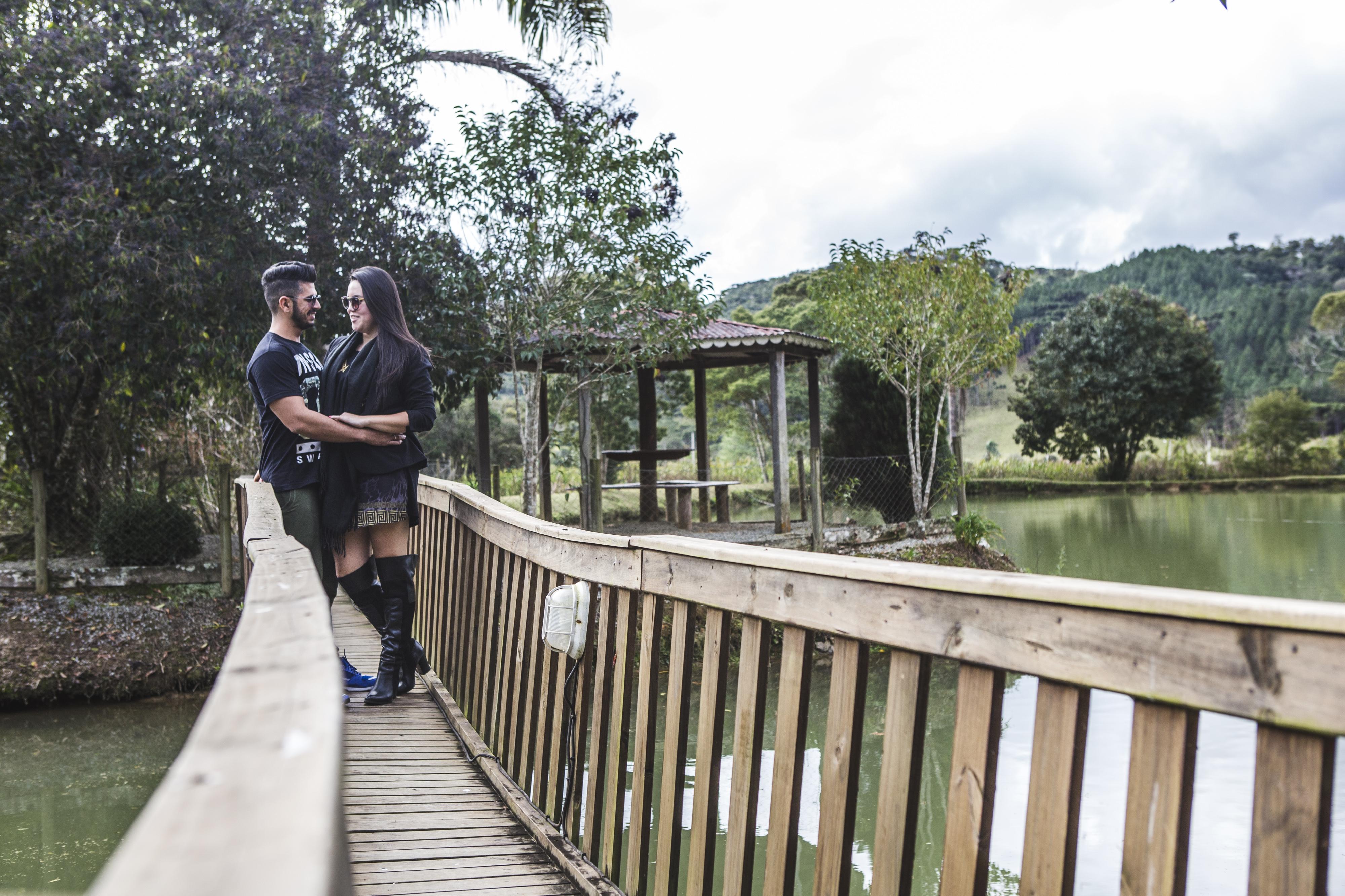 Mariana e Everton aproveitaram para descansar em Rancho Queimado - Daniel Queiroz/ND