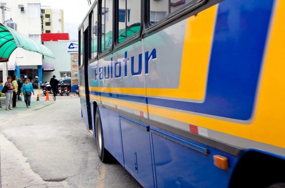 Os ônibus da Paulotur não estão circulando na Grande Florianópolis nesta terça - Rosane Lima/Arquivo/ND