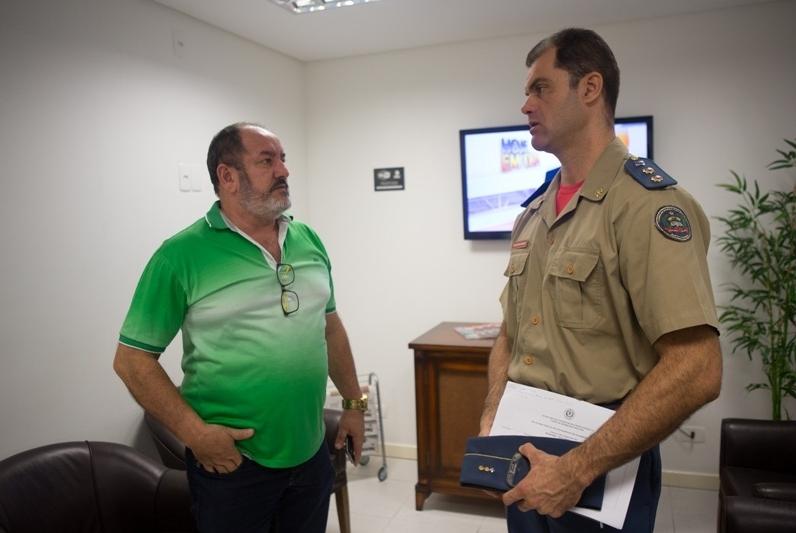 Sallum e tenente-coronel Heisler: panorama da chuva será divulgado nesta quinta-feira - Daniel Queiroz/ND
