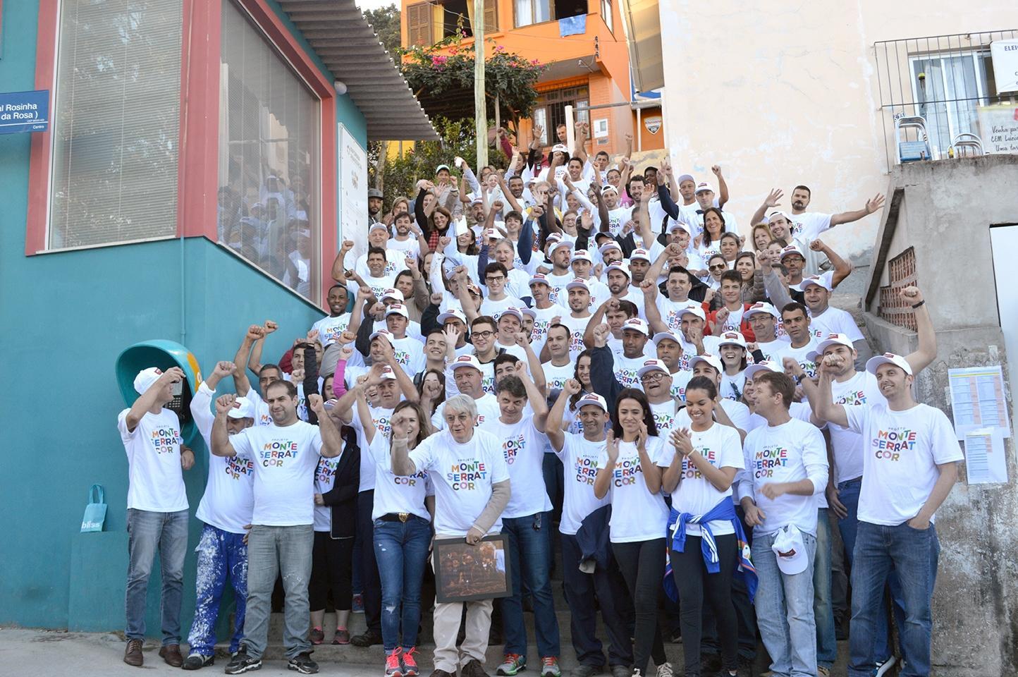O registro feito pela Equipe de Mídias da Jornada Ampliada do Centro Educacional Marista Lúcia Mayvorne mostra os voluntários - Equipe de Mídias/CEM Lúcia Mayvorne/Divulgação/ND