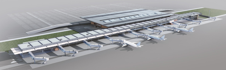 Novo terminal do aeroporto Hercílio Luz, em Florianópolis - Divulgação/Zurich Airport/ND
