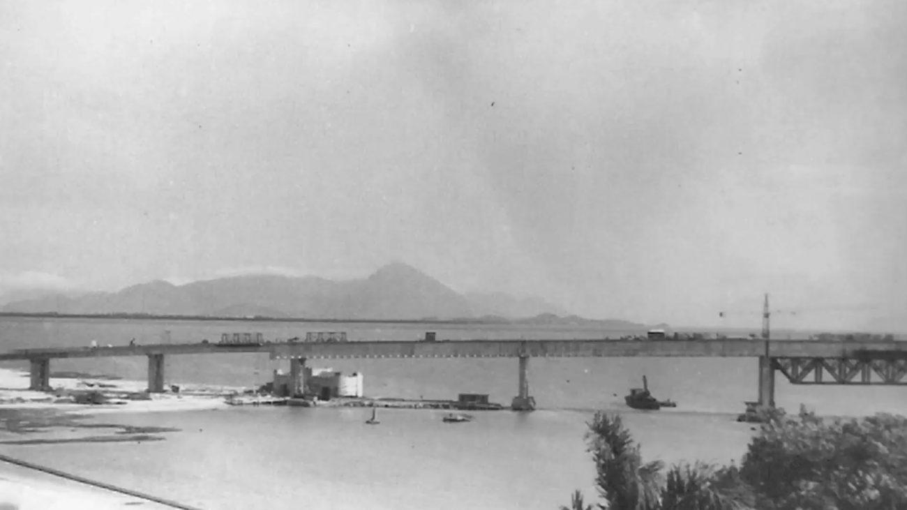 Ilha serviu como base para a construção da ponte Colombo Salles - Reprodução/Ilha do Carvão/ND