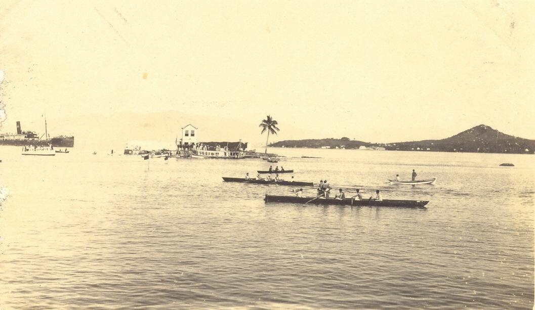 Competições de remo aconteciam nas proximidades da Ilha - Reprodução/Ilha do Carvão/ND