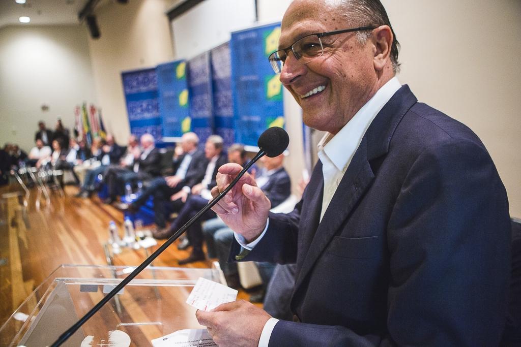Para Alckmin, a solução para o Brasil é investir em emprego, salário e valorizar os empreendedores - Daniel Queiroz/ND