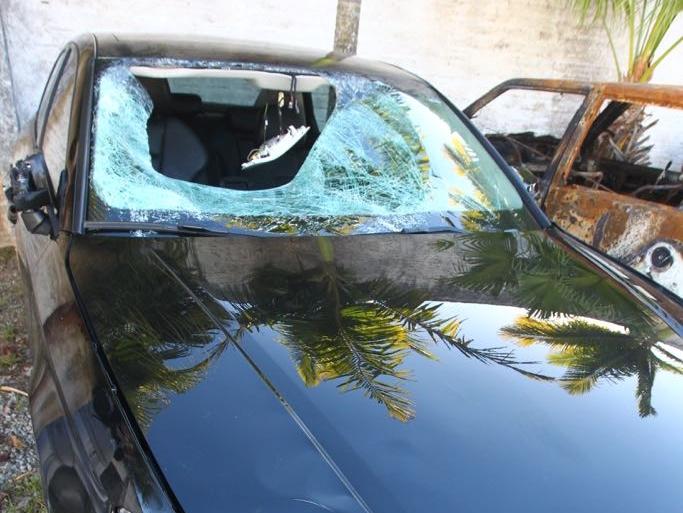 O Audi foi abandonado e está na 7ª Delegacia de Polícia - Marco Santiago/ND