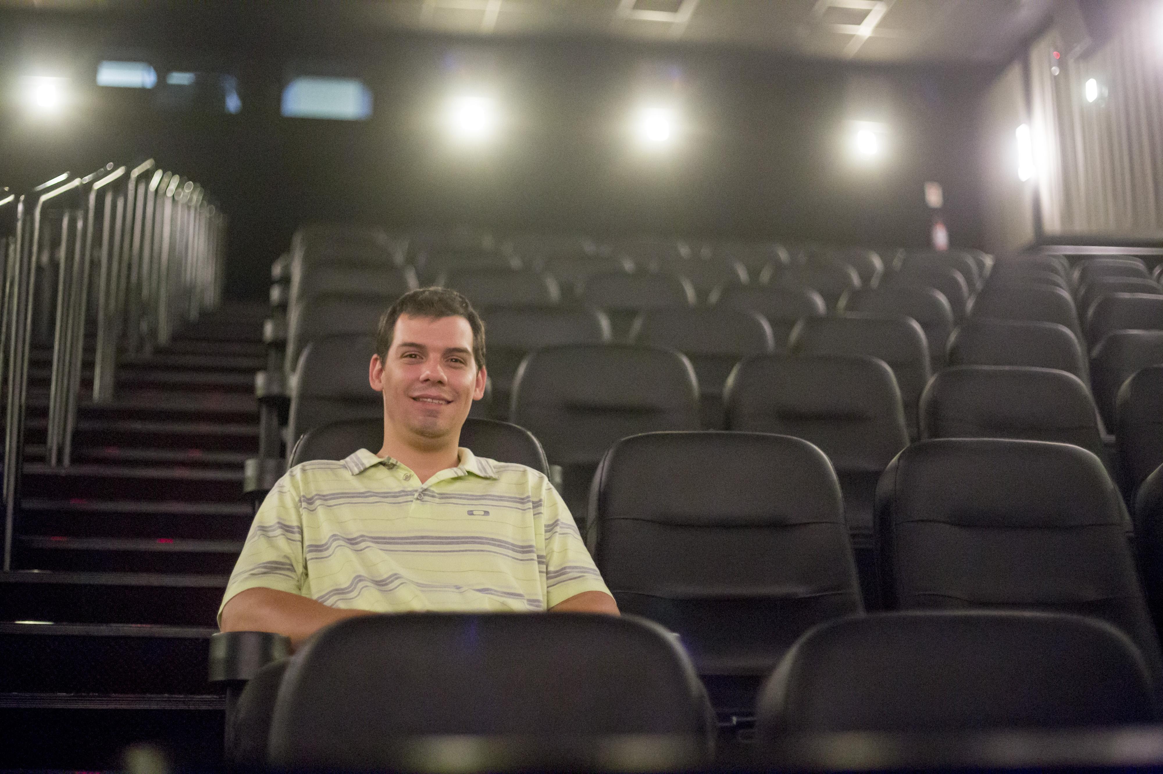 O administrador Cícero Celes é filho da fudadora da rede Cine Show - Flávio Tin/ND