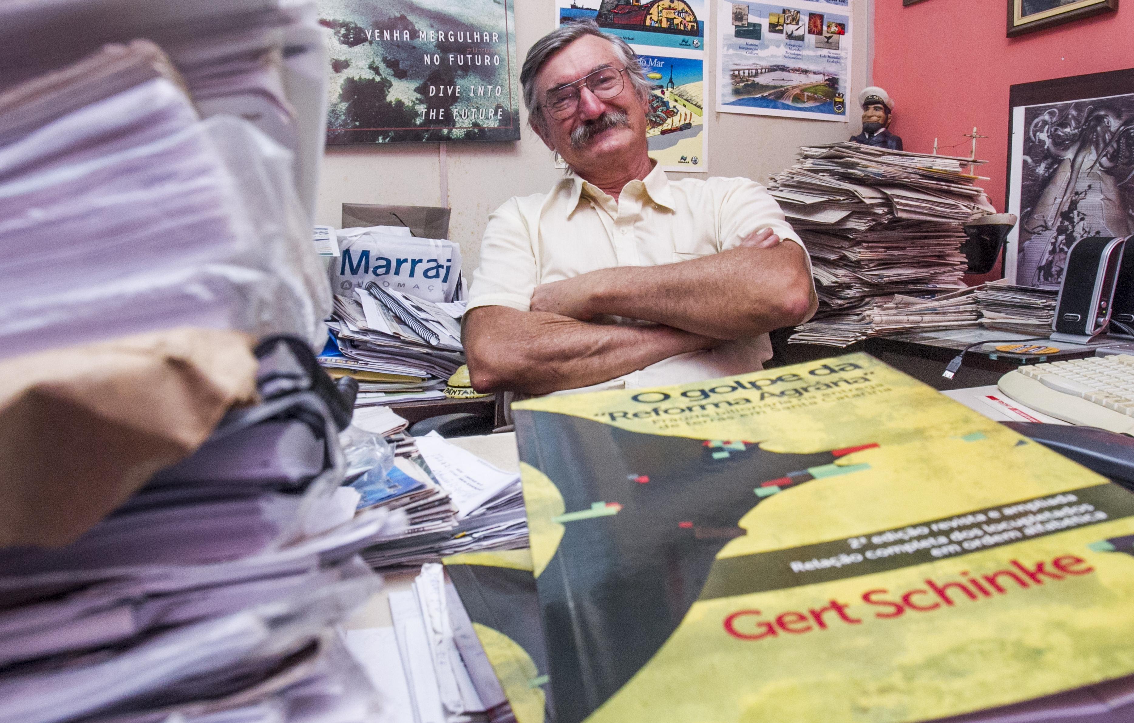 O caso veio à tona após estudo de cinco anos do historiador e ecologista Gert Schinke - Marco Santiago/ND
