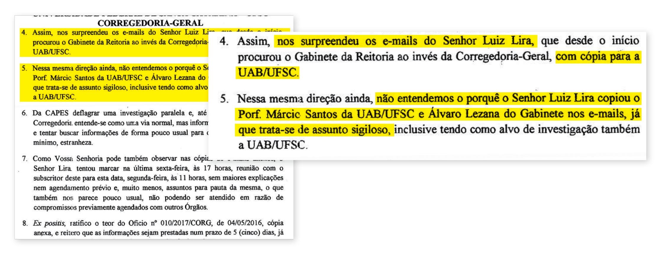 Corregedor envia ofício ao presidente da Capes questionando comunicação de visita técnica aos investigados - Reprodução