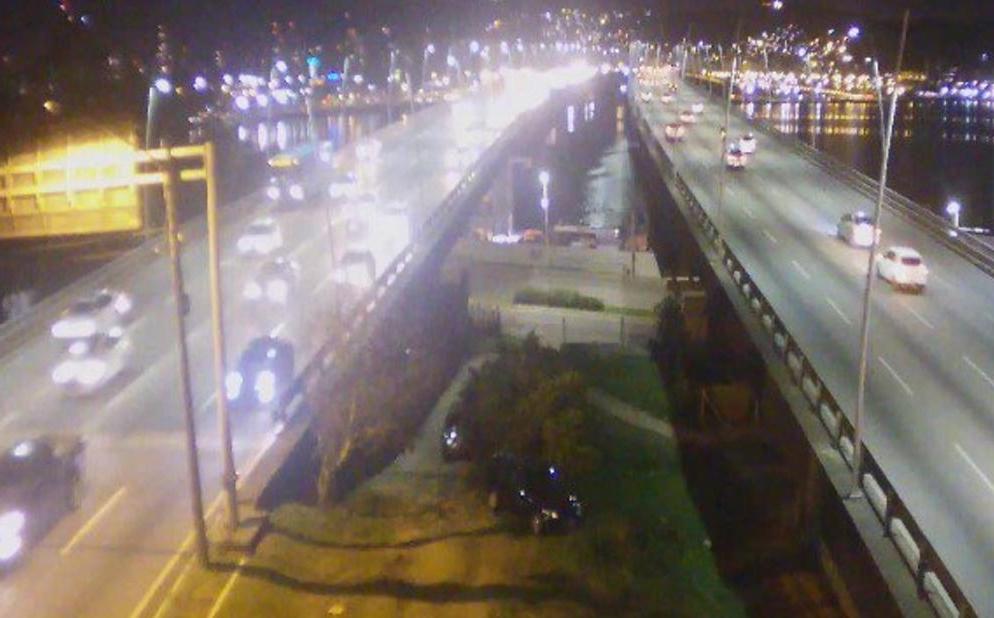 Monitoramento da SSP, da Ponte Pedro Ivo Campos, lado continental - Reprodução