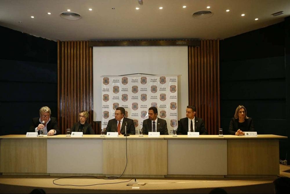 Entrevista coletiva foi cedida à imprensa na sede da PF nesta manhã - Daniel Queiroz/ND