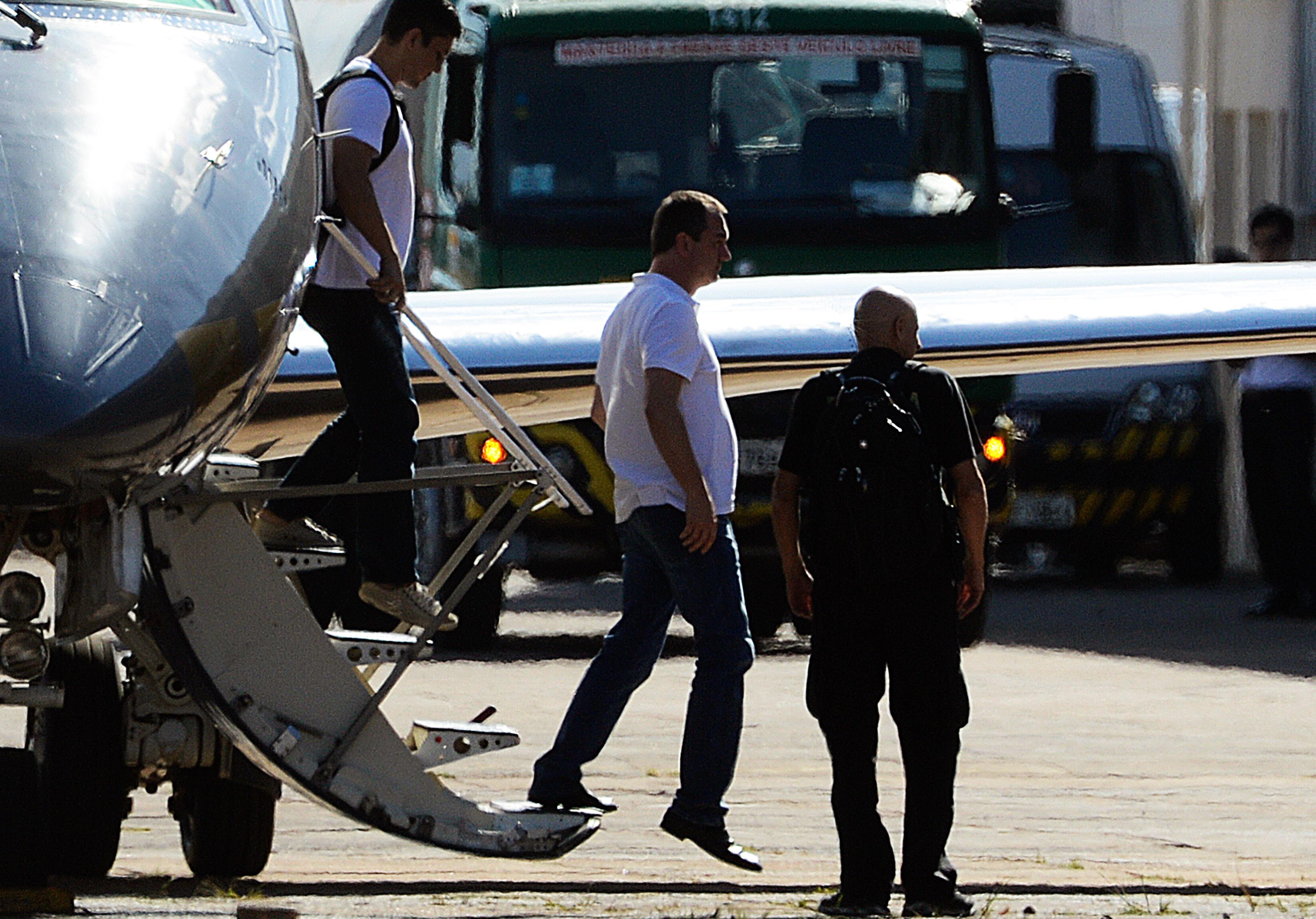 O executivo do grupo J&F, Joesley Batista, desembarca em Brasília onde vai ficar preso na Polícia Federal - Valter Campanato/Agência Brasil