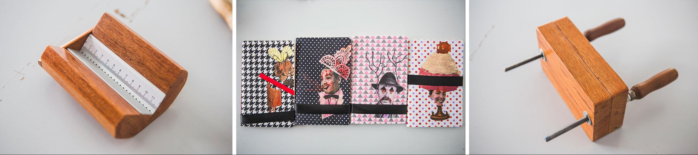 Aleph Ozuas produz ferramentas para encadernação e cadernos com capas criadas pela artista Pati Peccin - Daniel Queiroz/ND
