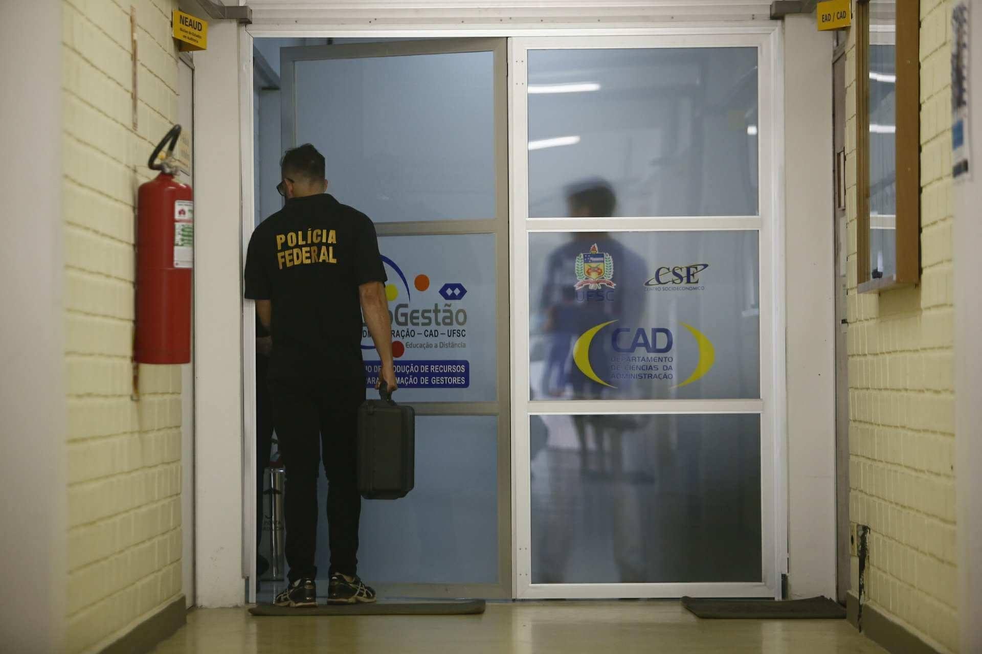 O prédio do CSE também está sendo vasculhado pela PF - Daniel Queiroz/ND