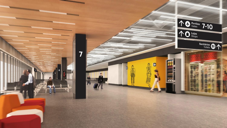 Projeto da futura sala de embarque do Floripa Airport - Zurich Airport/Divulgação/ND