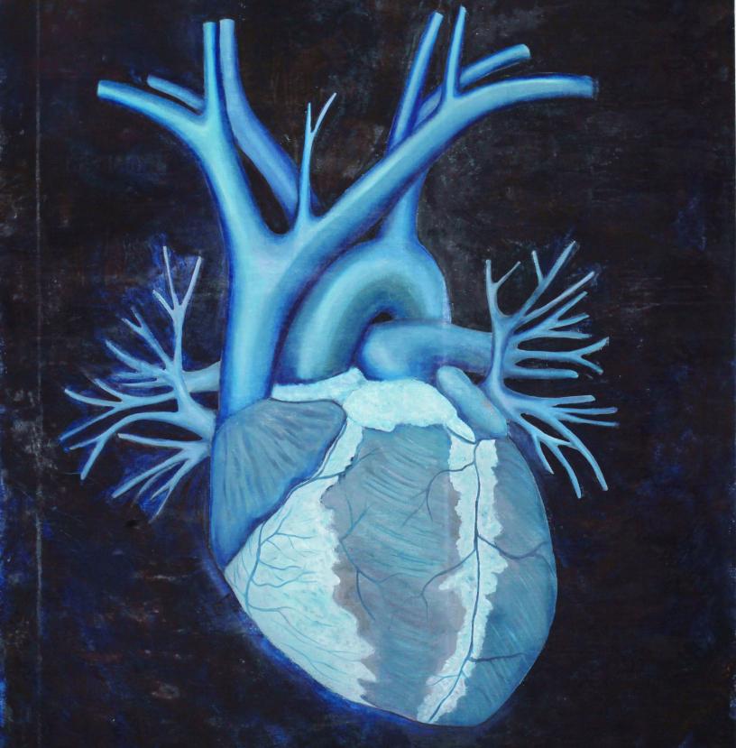 Trabalhos da artista remetem partes do corpo enfermo durante seu tratamento - Divulgação/ND
