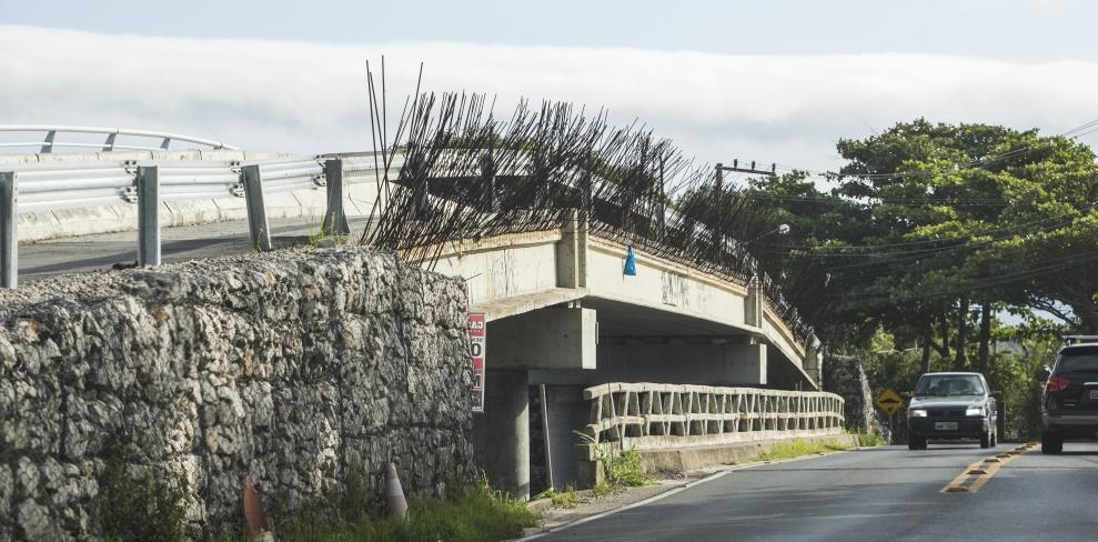 Ponte do Canal da Barra está com obras suspensas por liminar judicial - Daniel Queiroz