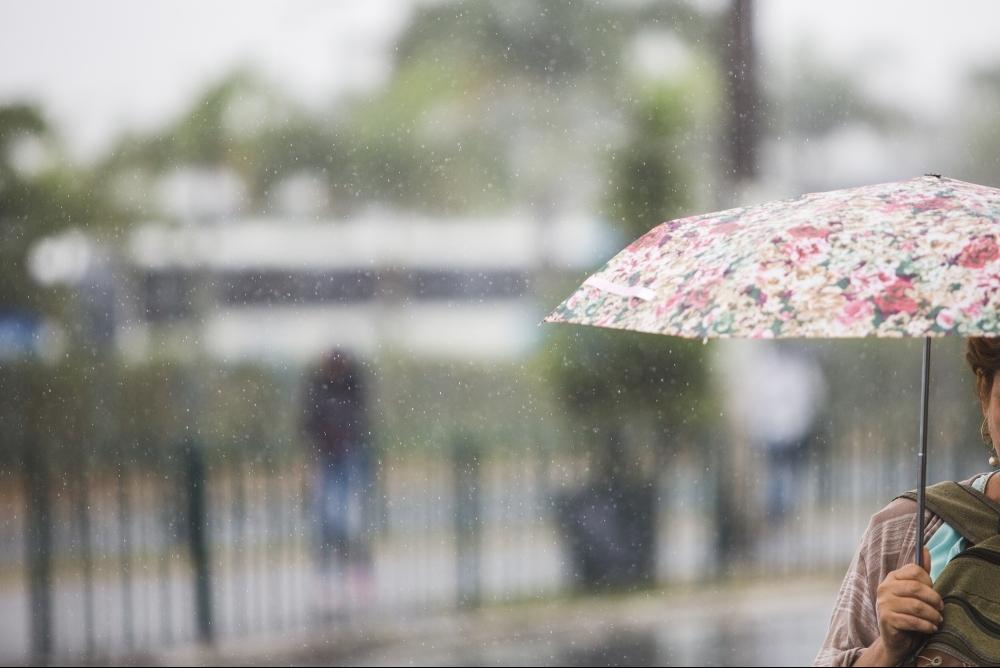 Chuva foi registrada na manhã desta segunda, em Florianópolis - Daniel Queiroz/ND