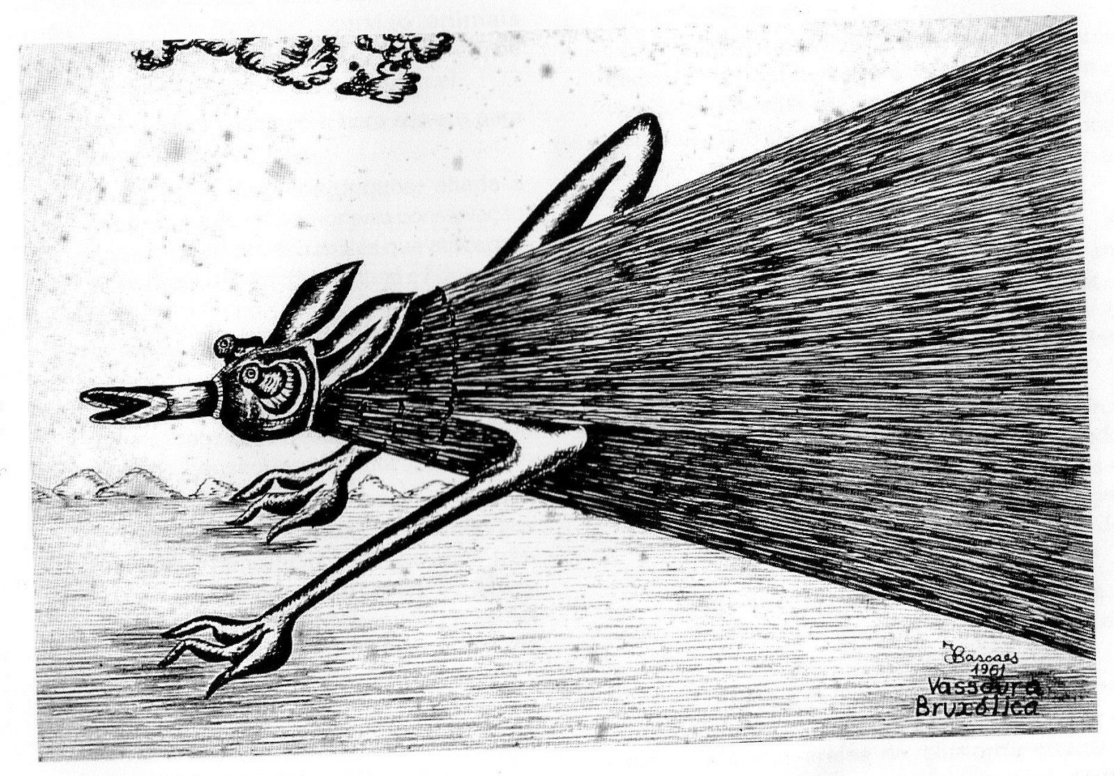 Vassoura bruxólica, obra de Cascaes de 1961 - Divulgação
