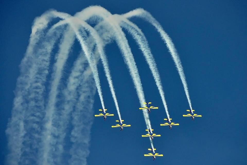 A apresentação da esquadrilha da fumaça conta com mais de 50 acrobacias aéreas - Esquadrilha da Fumaça/Divulgação