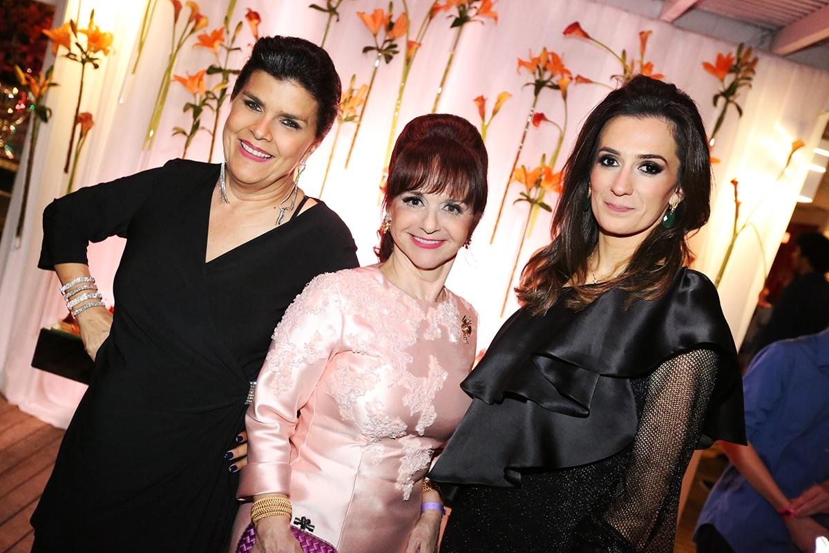 Elvira Menezes, Katia Dimatos e Maria Cláudia Largura Dimatos - DARLINE E ANGELO SANTOS/DIVULGAÇÃO/ND
