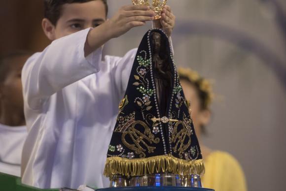 Celebração pelos 300 anos da aparição de Nossa Senhora Aparecida – Foto: Thiago Leon/Santuário de Nossa Senhora Aparecida/Divulgação/ND