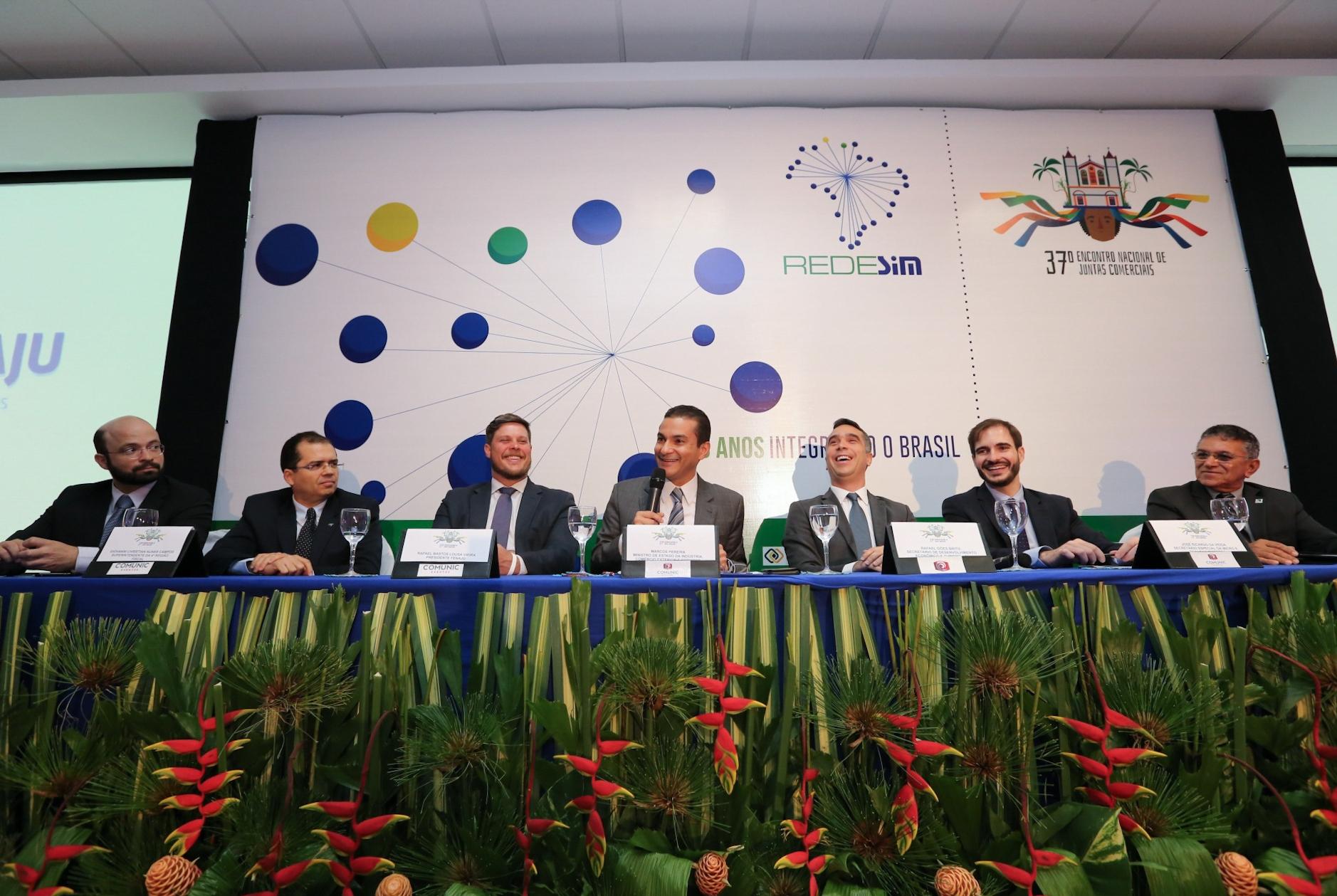 Ministro participou de encontro de representantes das Juntas Comerciais brasileiras - Divulgação/ND