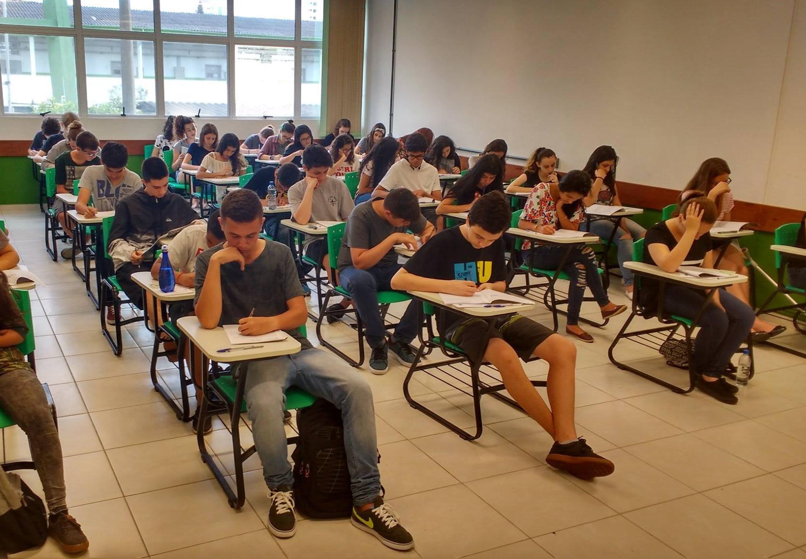 Mais de 5.000 candidatos fizeram a prova para ensino médio técnico do IFSC neste domingo - IFSC/Divulgação