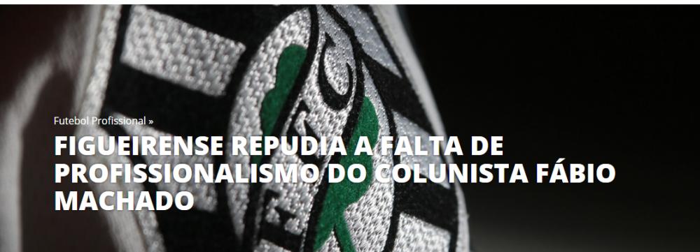 Nota Oficial do Figueirense - site /reprodução