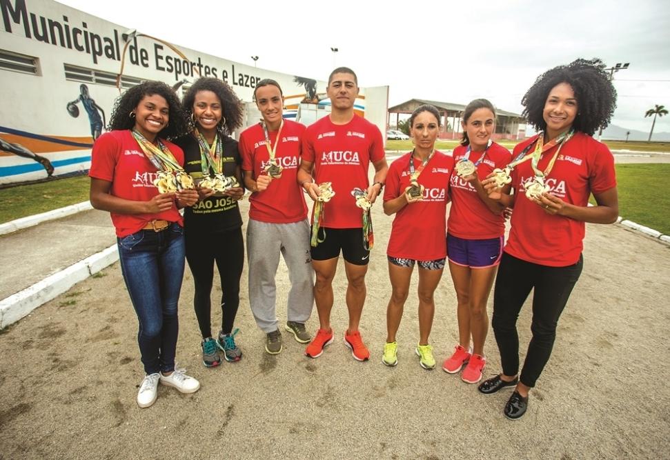 Equipe de São José conquistou o título nos dois naipes, masculino e feminino, e faturou 32 medalhas nos Jasc - Flávio Tin, ND