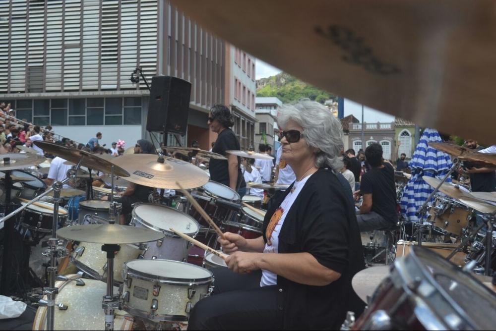 Nadia Mafra participou pela primeira vez da Orquestra em Florianópolis - Dariele Gomes/ND