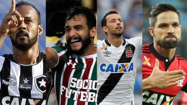 Quem foi o melhor jogador do futebol carioca na temporada de 2017? Veja as opções e deixe o seu voto nos duelos do LANCE!  -  (Foto: ARTE LANCE!)