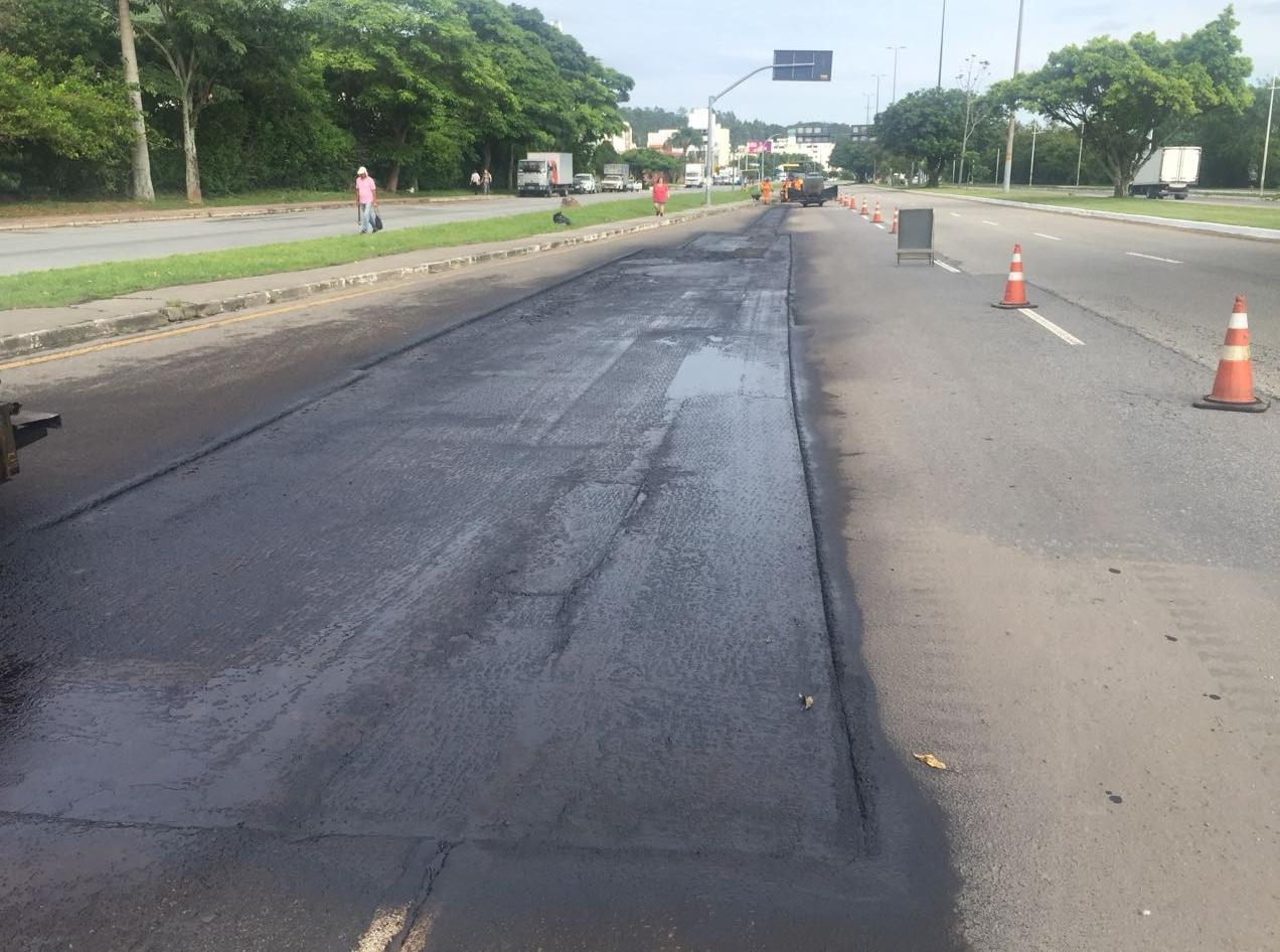 Obras da Prefeitura de Florianópolis após a chuva - PMF/ Divulgação