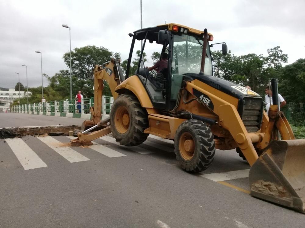 Ponte em Santo Amaro é interditada para veículos - Luiz Gonzaga dos Santos/Divulgação
