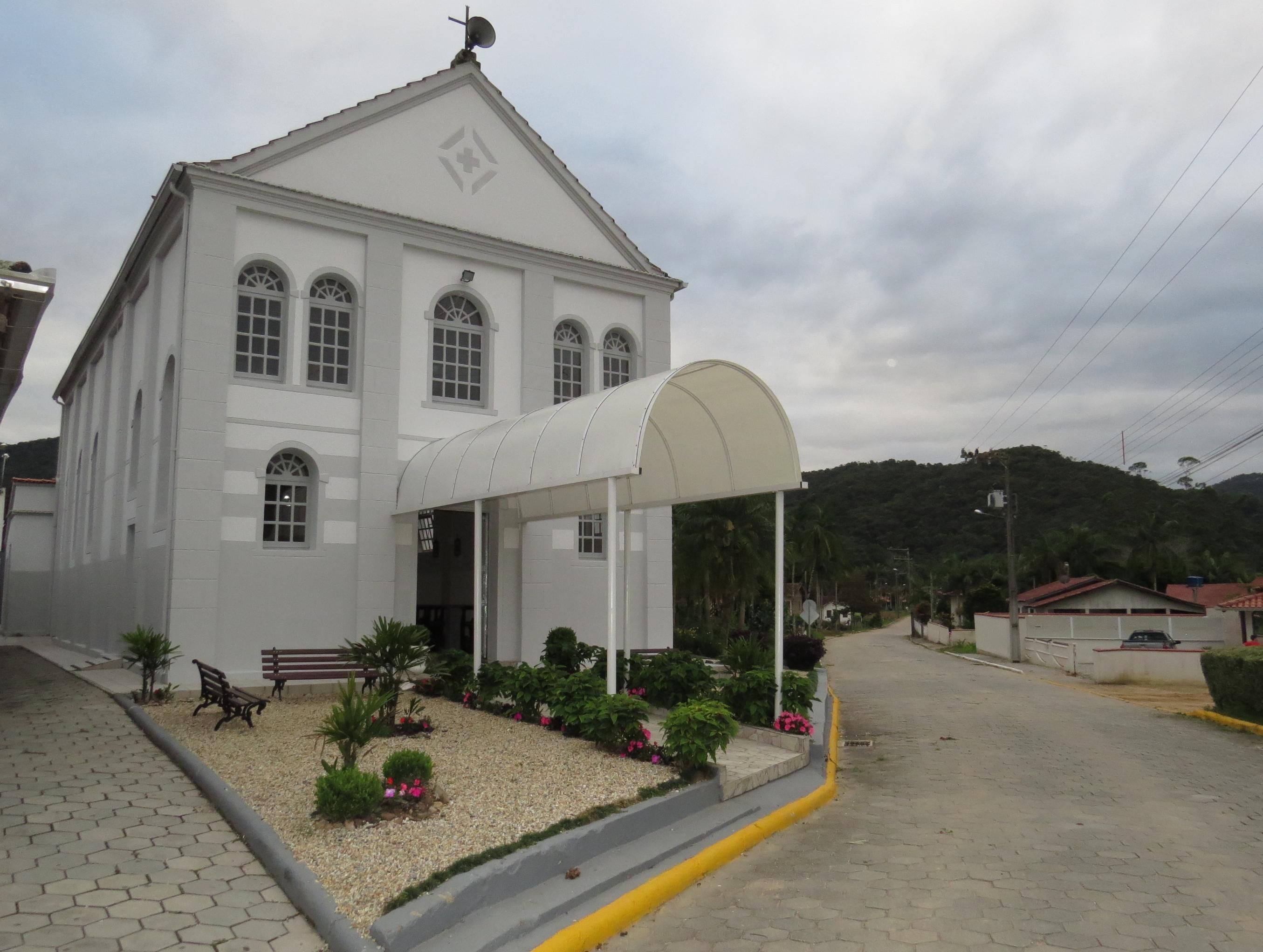 Igreja na comunidade Nova Itália, em São João Batista - Divulgação/ND