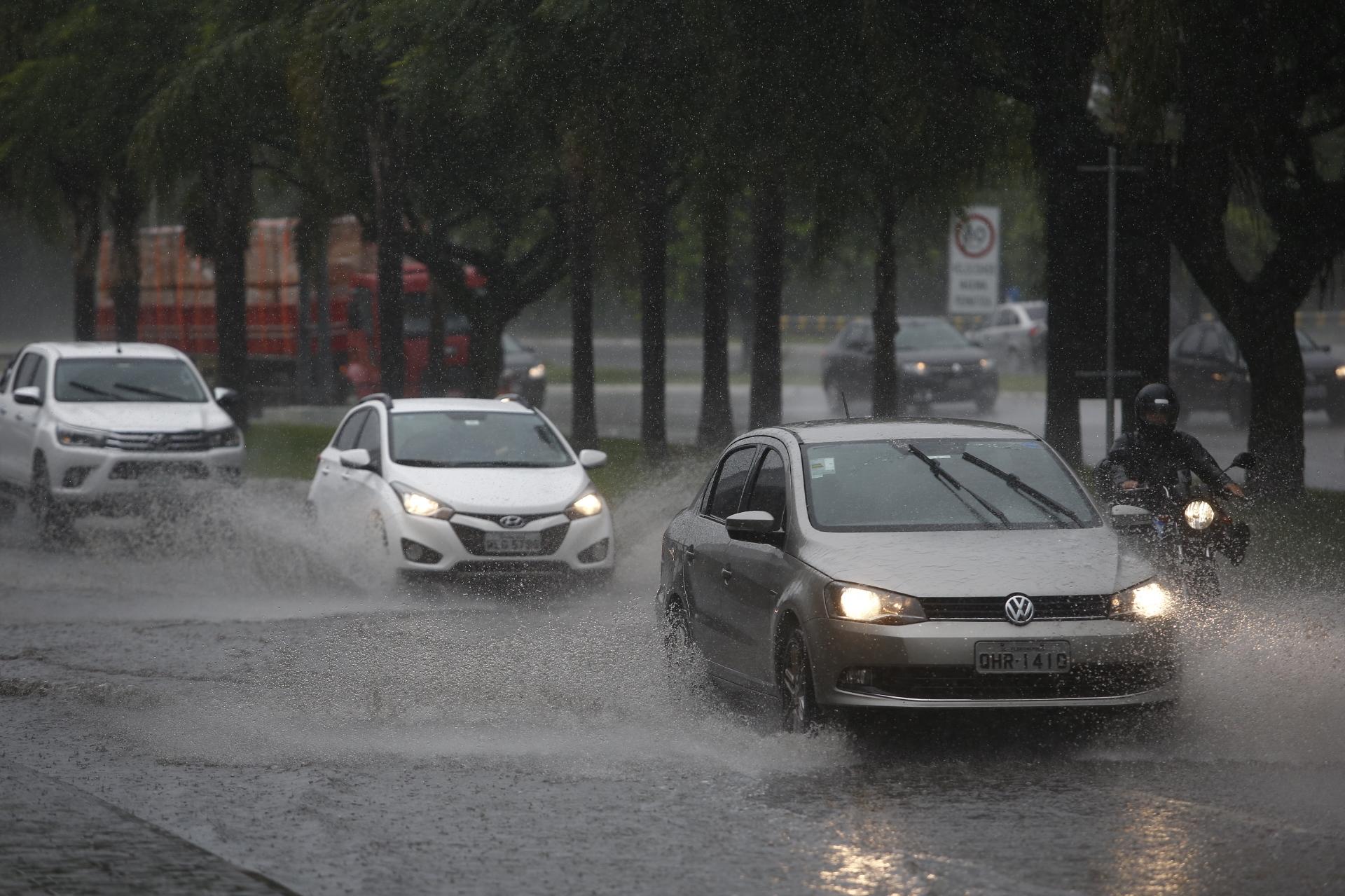 O volume de chuva foi maior do que o esperado para todo o mês - Daniel Queiroz/ND