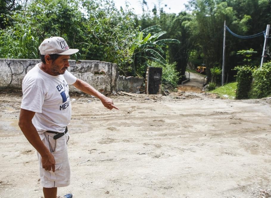 Rua da Represa, no Morro do Quilombo, recebeu tratamento especial durante o fim de semana - Daniel Queiroz/ ND