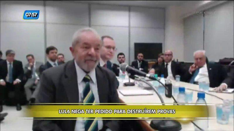 Depoimento de Lula ao juiz Sérgio Moro – Foto: Reprodução/RICTV Record TV/ND