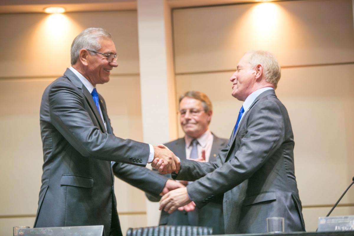 Silvio e Aldo fizeram transição de cargo - Luis Gustavo Debiasi/Agência AL/ND