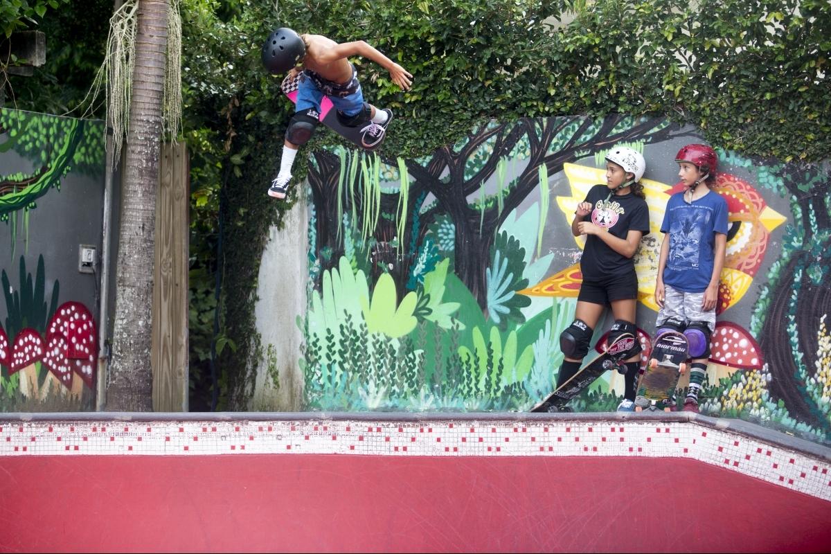 Pista de skate no Rio Tavares fomenta o esporte e exporta ídolos - Flávio Tin/ND