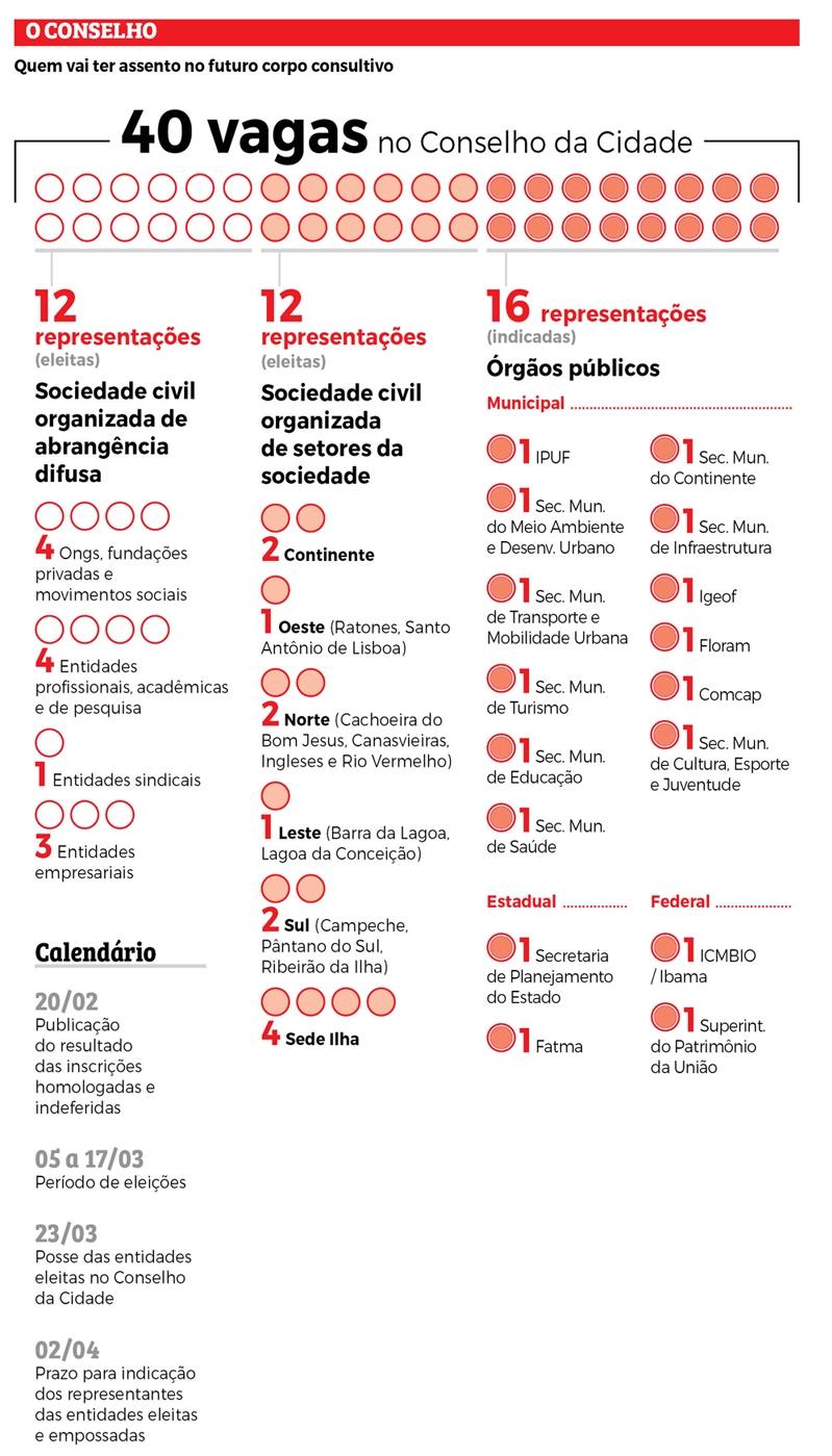 Infográfico Conselho da cidade - Divulgação/ND