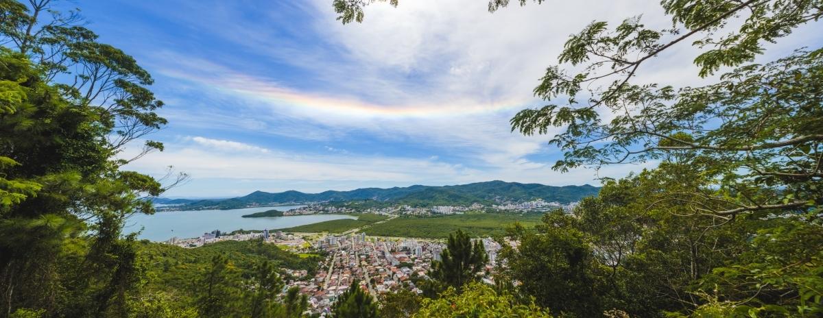 Halo solar visto de Florianópolis - Daniel Queiroz/ND