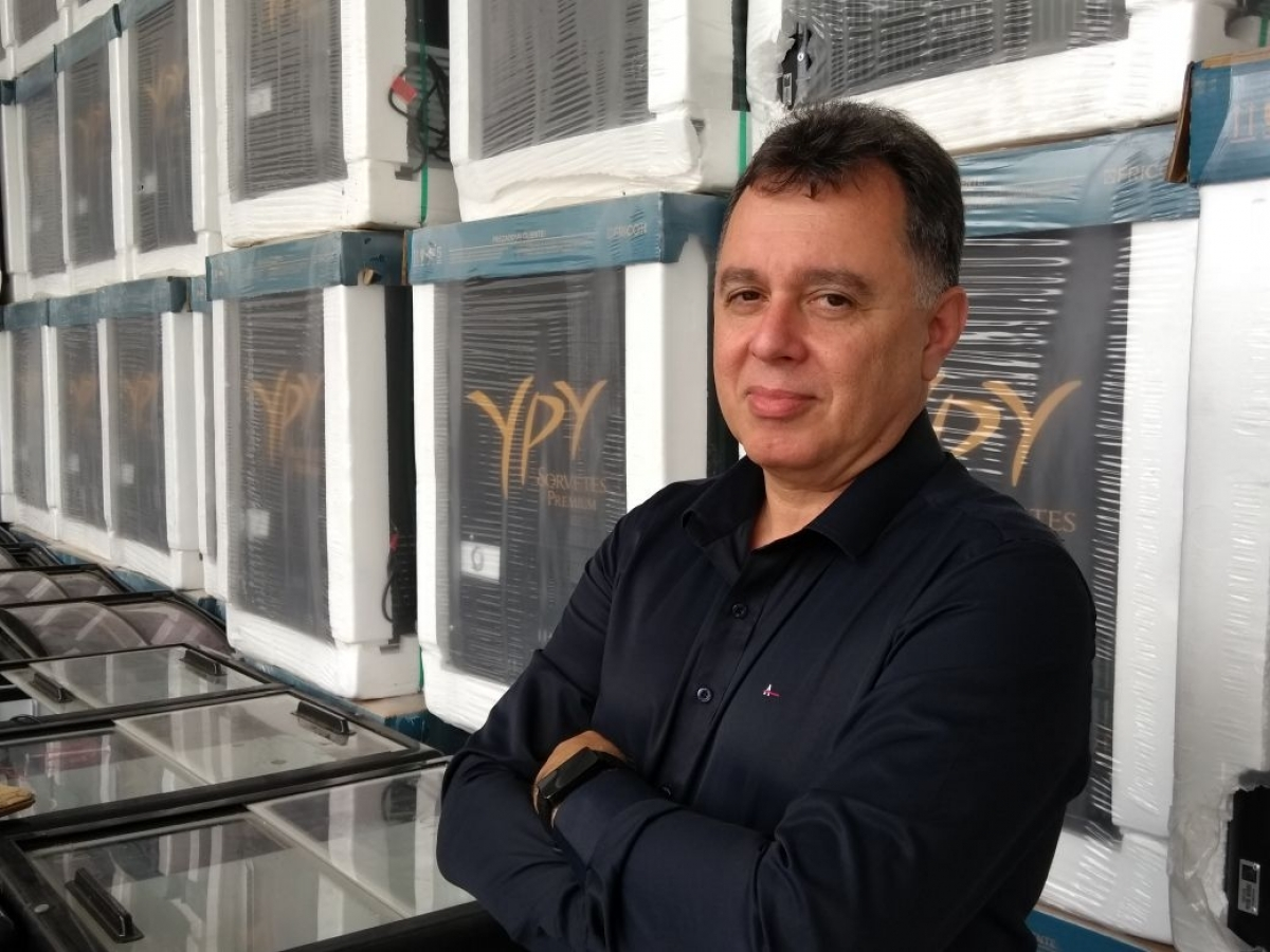 João Batista de Castro Flores assumiu neste mês a gerência comercial da YPY Sorvetes com a missão de alavancar os canais de distribuição e promover novos negócios em várias regiões. - Paulinho Scarduelli/GSCOMUNICA,
