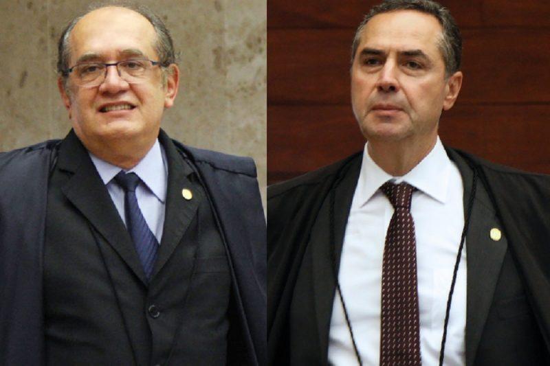 Ficha Limpa: Discussão segue entre ministros do STF, como os ministros Gilmar Mendes (esq.) e Luís Roberto Barroso (dir.) – Foto: Carlos Humberto/SCO/STF