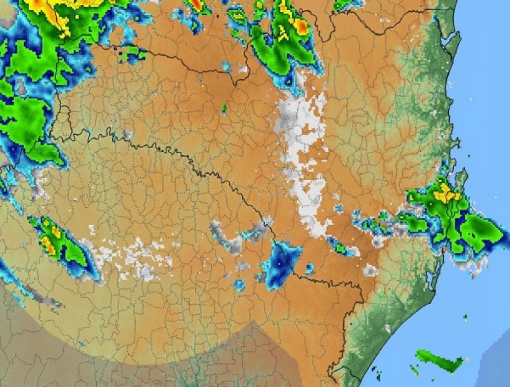 Radares indicam regiões de instabilidade sobre Santa Catarina - Defesa Civil/Divulgação/ND