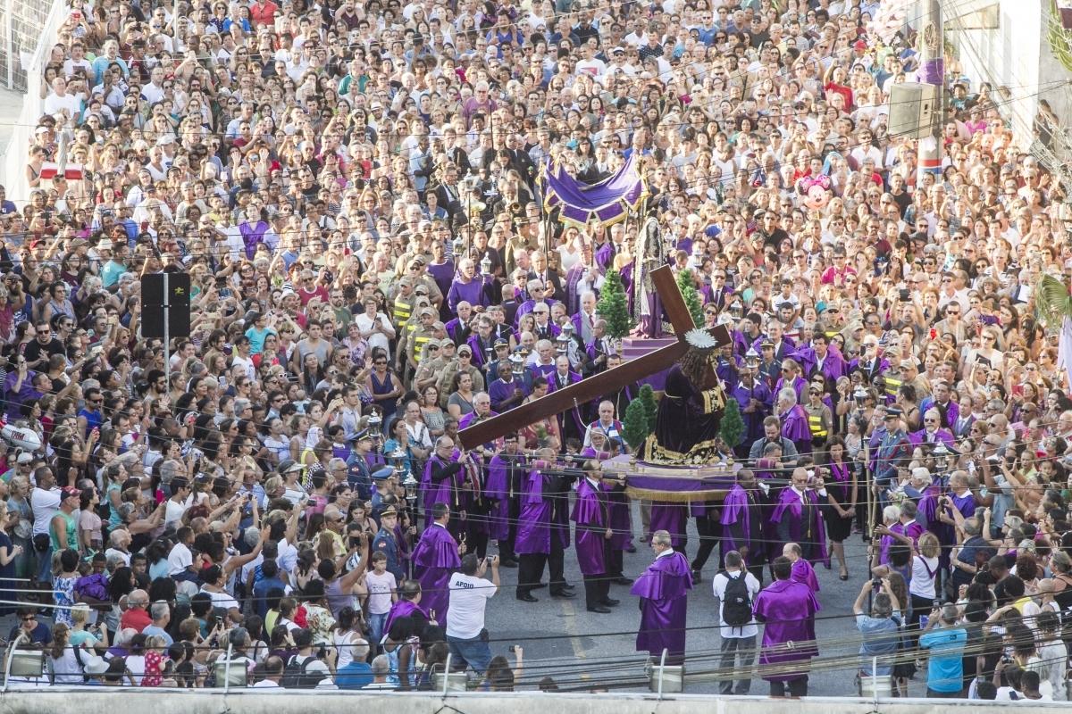 Cerca de 40 mil pessoas acompanharam o cortejo neste ano - Marco Santiago/ND