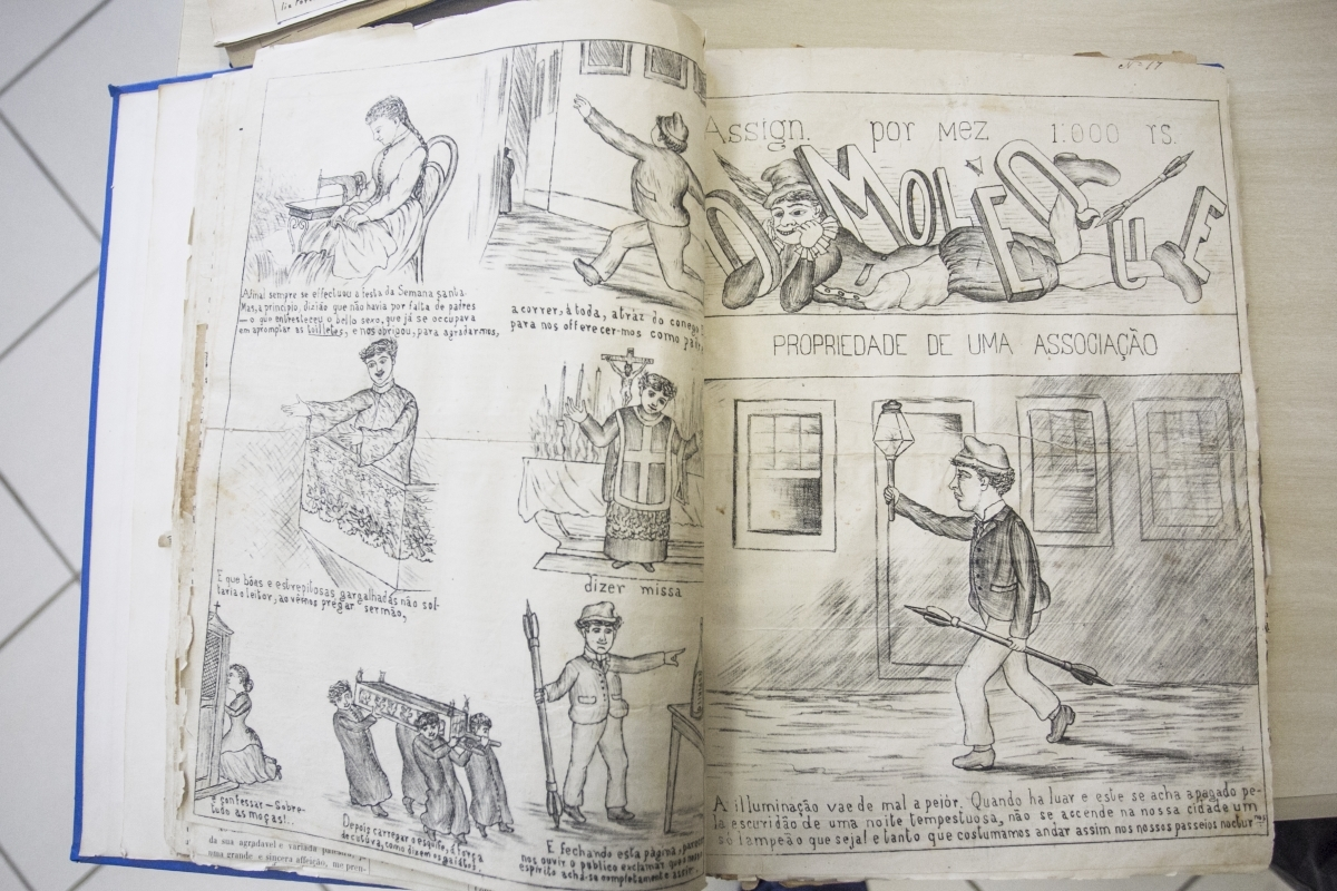 """Jornais como """"O Moleque"""" (1885) foram transportados para o mundo digital por meio da digitalização - Marco Santiago/ND"""