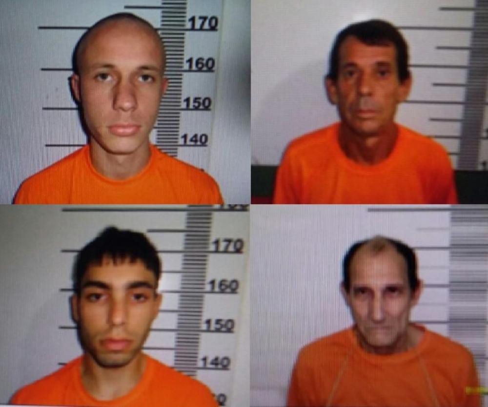 Os quatro foragidos do presídio de Biguaçu - Divulgação/ND