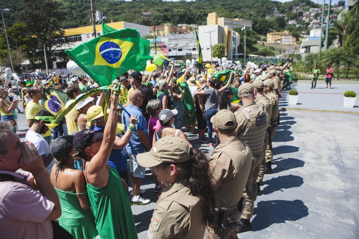 Lula em SC  - Daniel Queiroz/ND